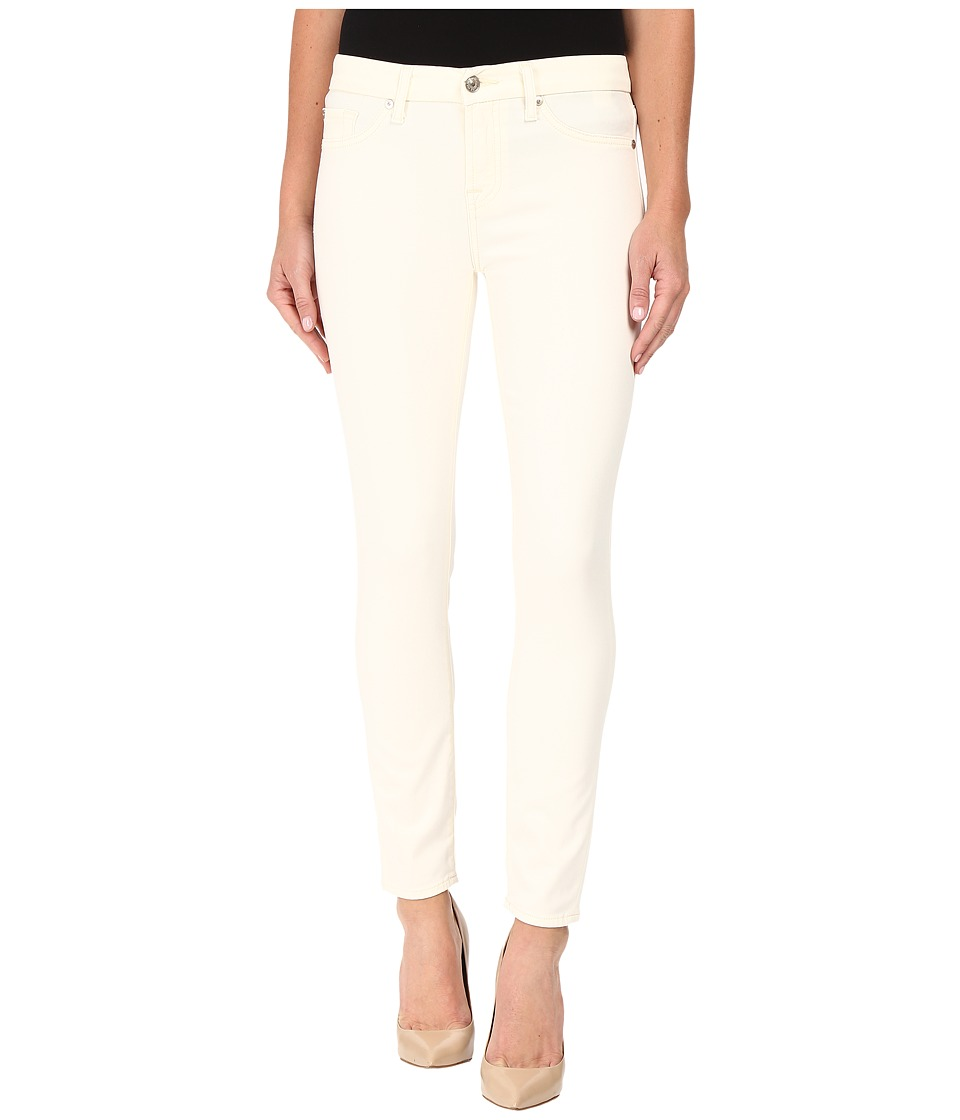 7 For All Mankind - The Ankle Skinny w/ Contour Waist Band in Winter White (Winter White) Women's Jeans