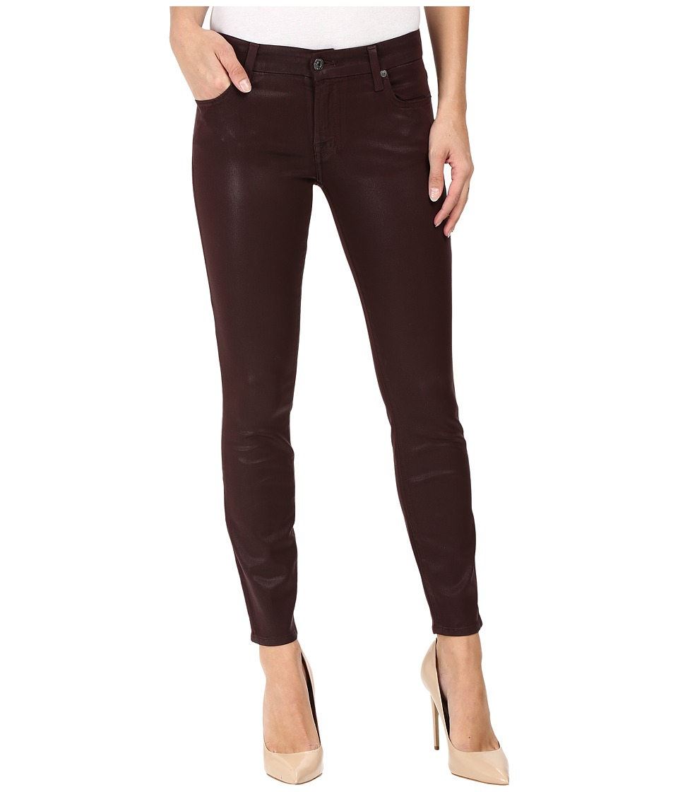 7 For All Mankind The Ankle Skinny in Plum (Plum) Women