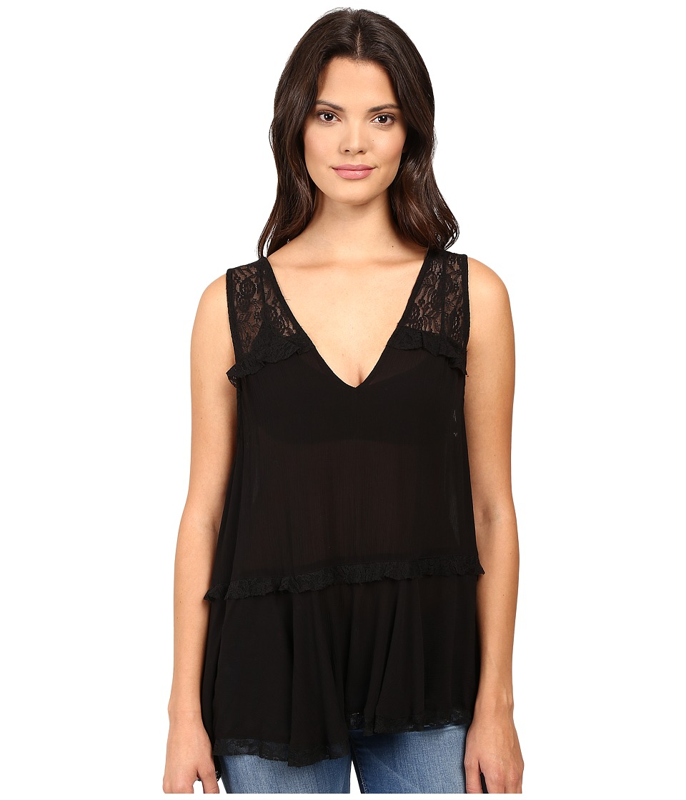 Free People - Lace Trapeze Cami (Black) Women's Pajama
