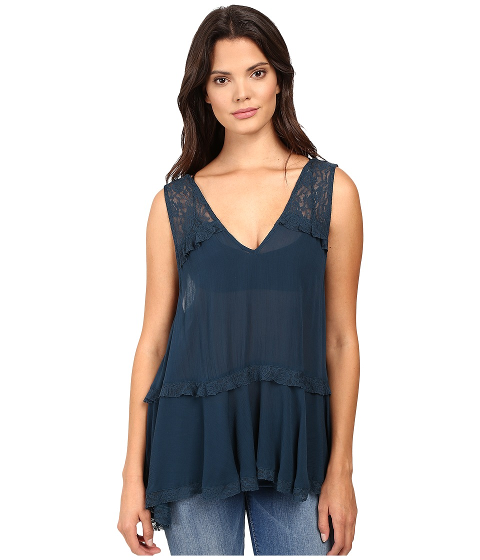 Free People - Lace Trapeze Cami (Sapphire) Women's Pajama