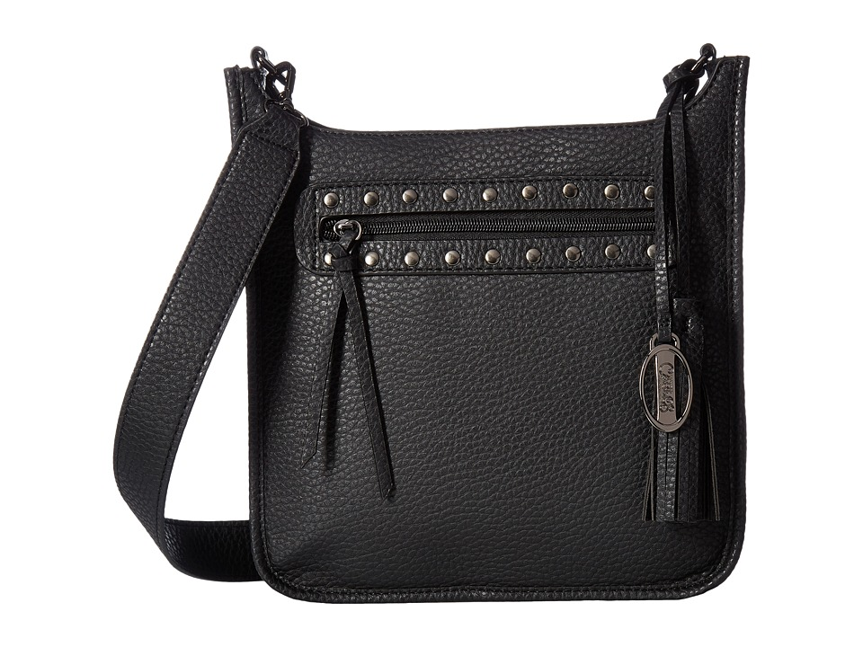CARLOS by Carlos Santana - Capricorn Crossbody (Black) Cross Body Handbags