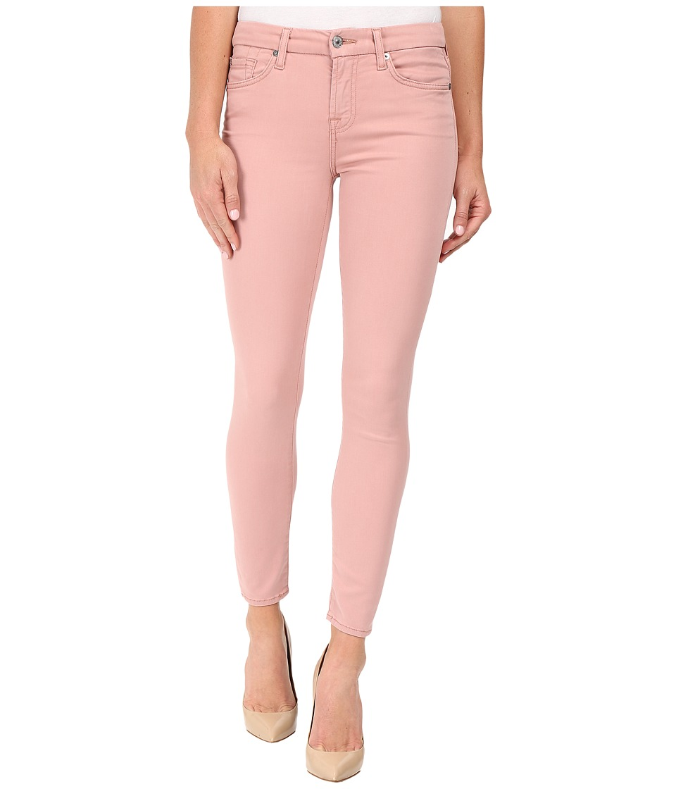 7 For All Mankind - The Ankle Skinny w/ Contour Waist Band in Pink Rose (Pink Rose) Women's Jeans