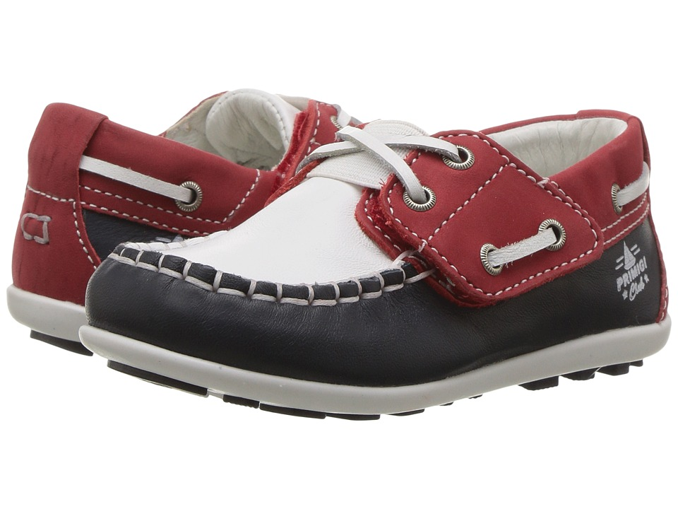 Primigi Kids - PPN 7088 (Toddler) (Navy/White/Red) Boy's Shoes