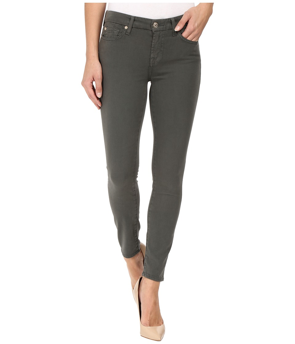 7 For All Mankind - The Ankle Skinny w/ Contour Waist Band in Olive (Olive) Women's Jeans