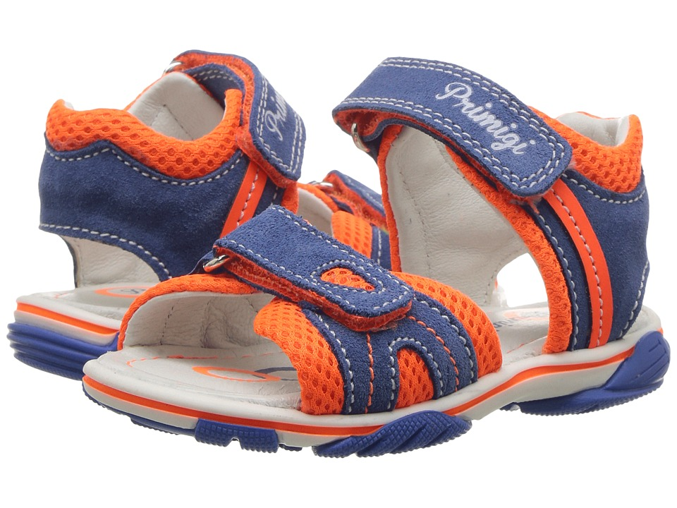 Primigi Kids - PSS 7082 (Toddler) (Blue/Orange) Boy's Shoes