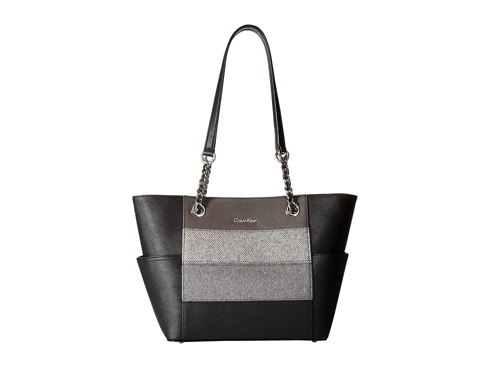 Calvin Klein - Key Items H3DA11HU (Grey Stripe) Tote Handbags
