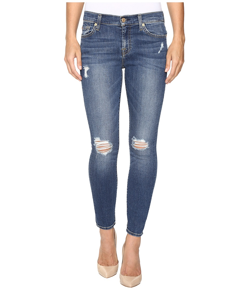 7 For All Mankind - The Ankle Skinny w/ Contour Waist Band in Medium Melrose (Medium Melrose) Women's Jeans