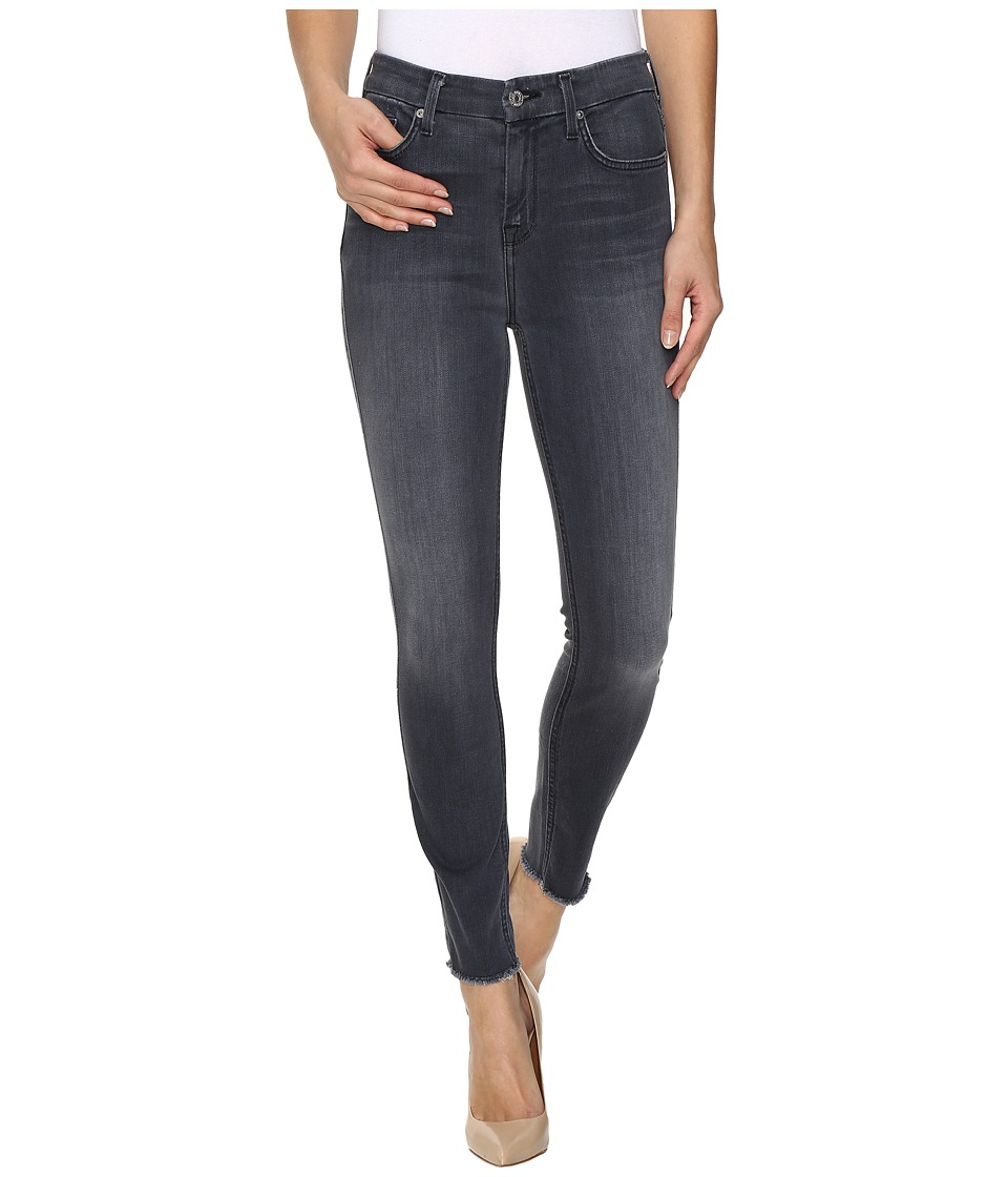 7 For All Mankind - The High Waist Ankle Skinny w/ Raw Hem in Cobblestone Grey (Cobblestone Grey) Women's Jeans
