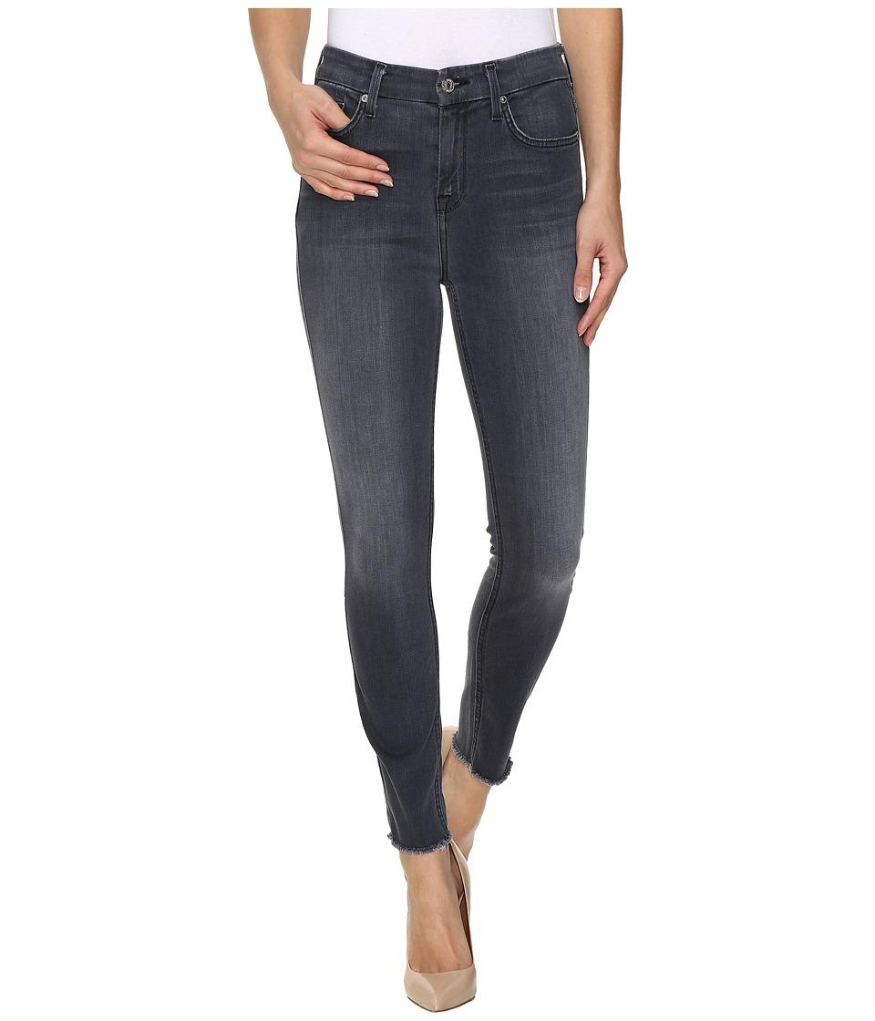 7 For All Mankind - The High Waist Ankle Skinny w/ Raw Hem in Cobblestone Grey (Cobblestone Grey) Women's Jeans