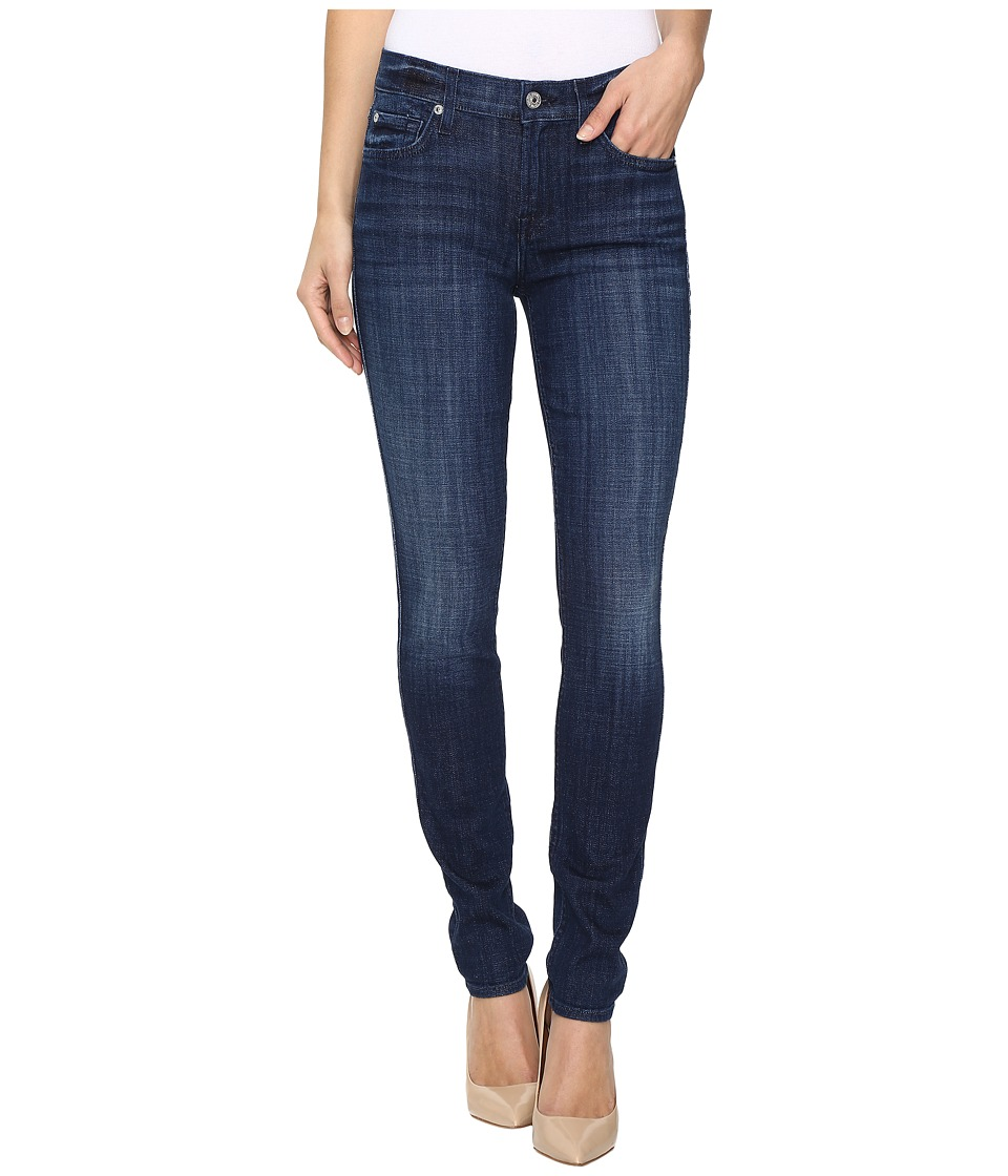 7 For All Mankind - The Skinny in Bordeaux Broken Twill (Bordeaux Broken Twill) Women's Jeans
