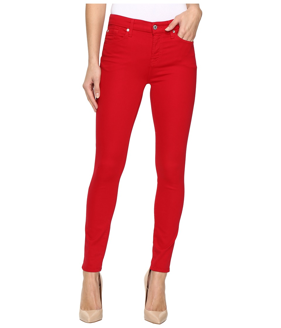 7 For All Mankind - The Ankle Skinny w/ Contour Waist Band in Fruit Punch (Fruit Punch) Women's Jeans