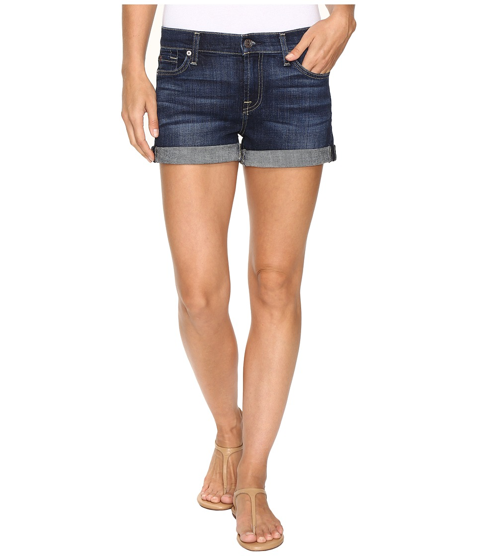 7 For All Mankind - Roll Up Shorts in Nouveau New York Dark (Nouveau New York Dark) Women's Clothing