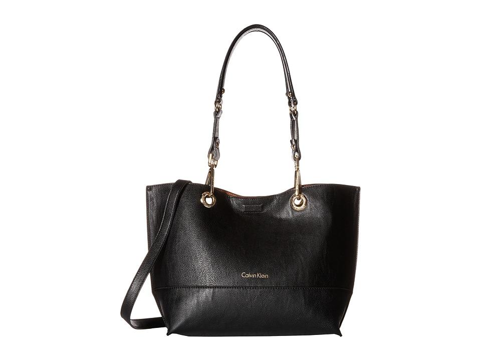 Calvin Klein - Sonoma Pebble PVC Shopper (Black/Luggage) Handbags