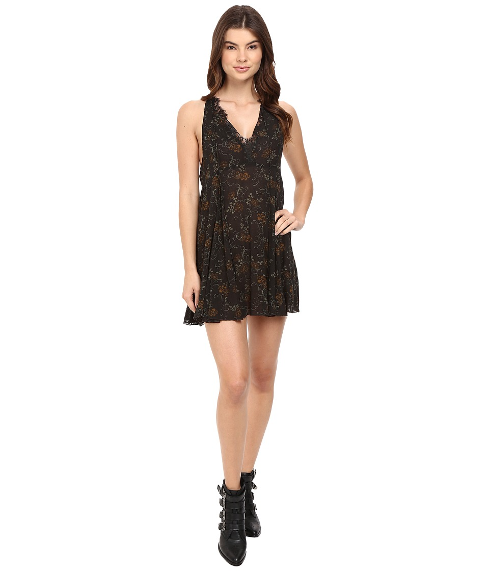 Free People - Printed French Girls Slip (Black Combo) Women's Pajama