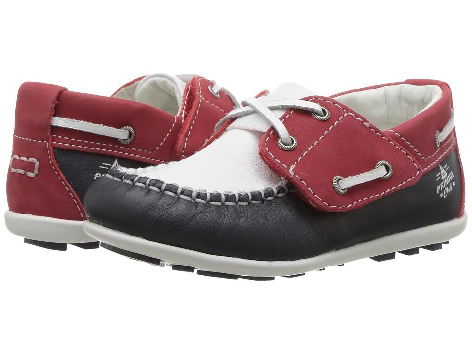 Primigi Kids - PPN 7088 (Toddler) (Navy/White/Red) Boy's Shoes
