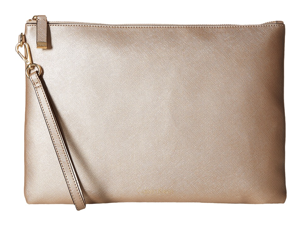 Calvin Klein - Assorted Saffiano Pouches (Metallic Taupe) Travel Pouch