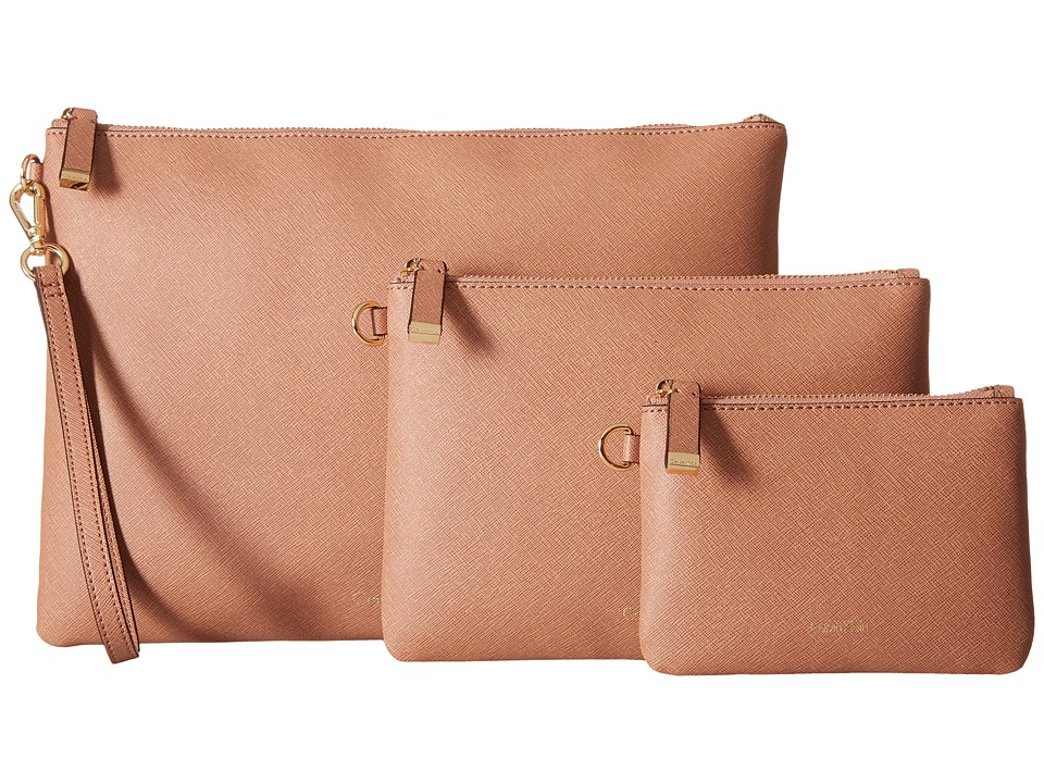 Calvin Klein - Assorted Saffiano Pouches (Deep Blush) Travel Pouch