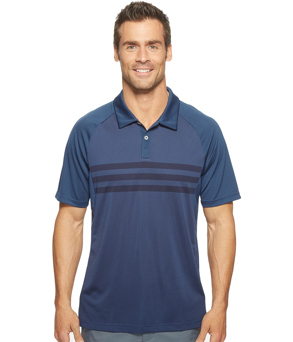 adidas Golf - Climacool 3-Stripes Competition Polo (Dark Slate/Collegiate Navy/Dark Slate) Men's Short Sleeve Pullover