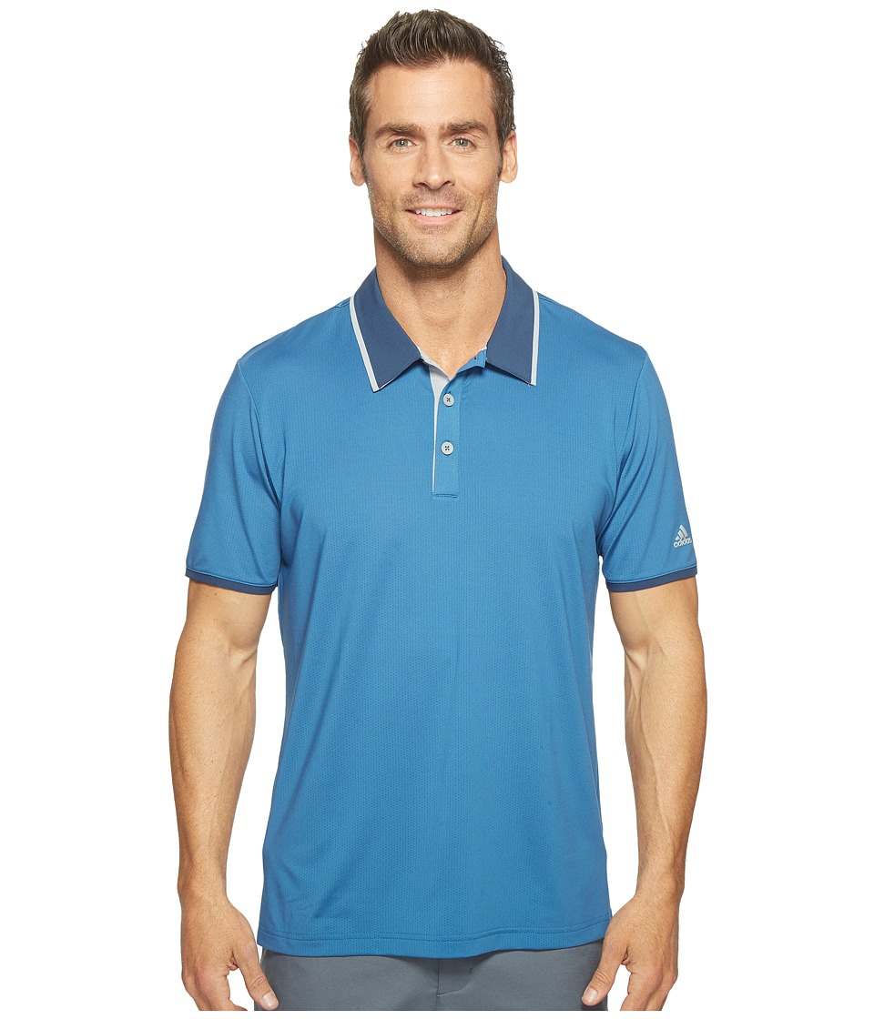 adidas Golf - Climacool Performance Polo (Core Blue/Dark Slate/Mid Grey) Men's Short Sleeve Pullover