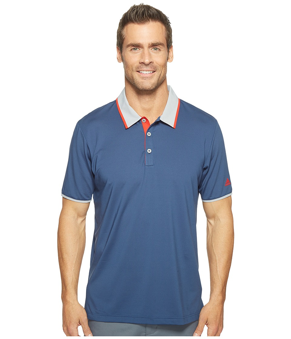 adidas Golf - Climacool Performance Polo (Dark Slate/Mid Grey/Scarlet) Men's Short Sleeve Pullover