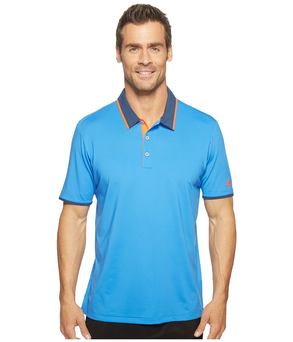 adidas Golf - Climacool Performance Polo (Blast Blue/Dark Slate/Energy) Men's Short Sleeve Pullover