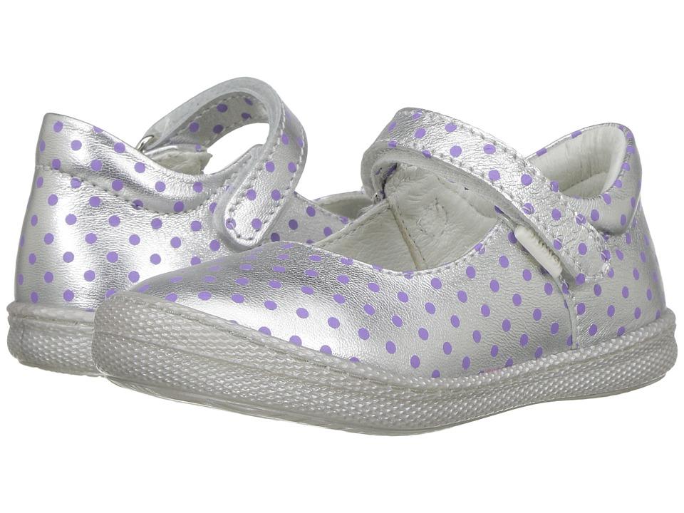 Primigi Kids - PTF 7187 (Toddler) (Silver/Purple) Girl's Shoes