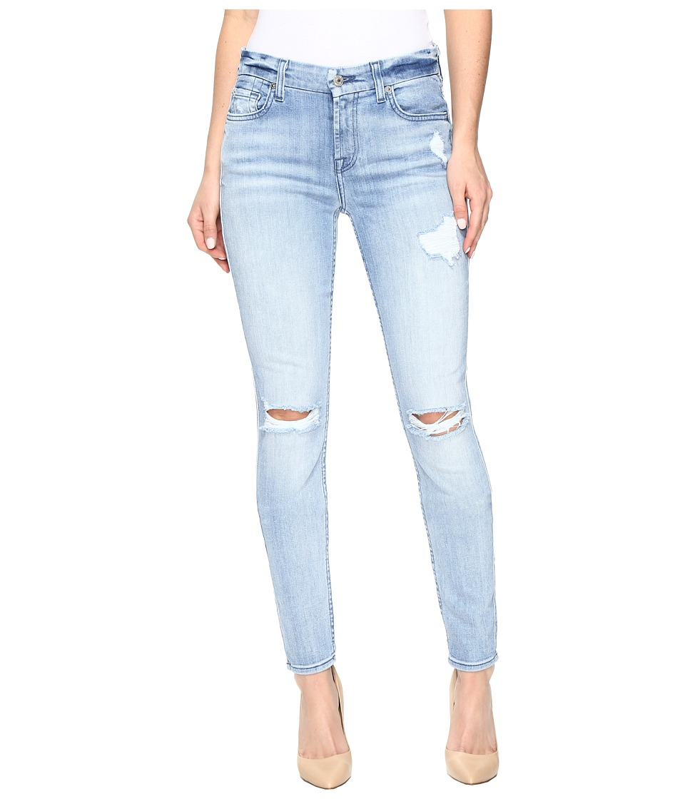 7 For All Mankind - The Skinny w/ Destroy in Bright Bristol 2 (Bright Bristol 2) Women's Jeans