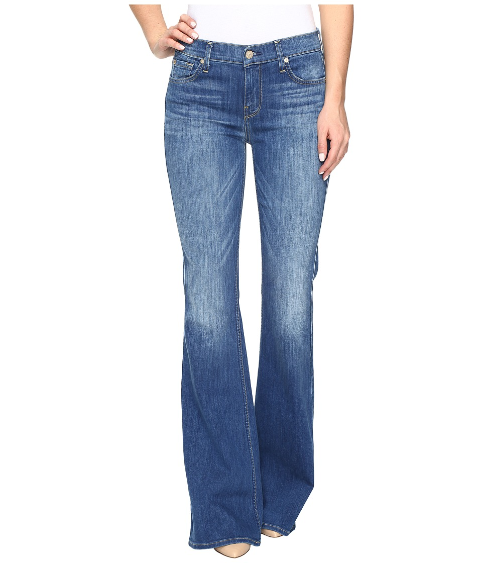 7 For All Mankind - Ali Flare in Newcastle Broken Twill 2 (Newcastle Roken Twill 2) Women's Jeans