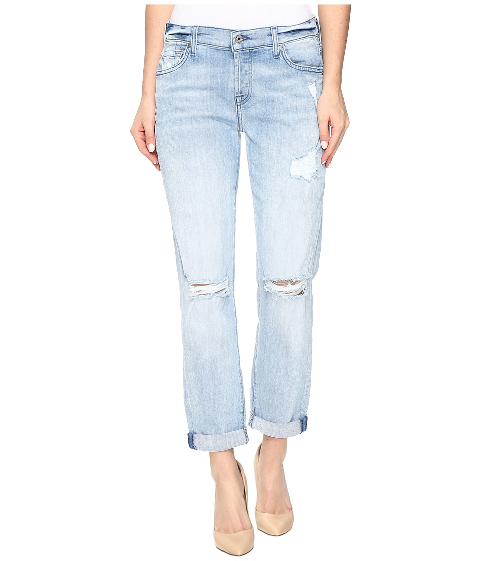 7 For All Mankind - Josefina w/ Destroy in Bright Bristol 2 (Bright Bristol 2) Women's Jeans