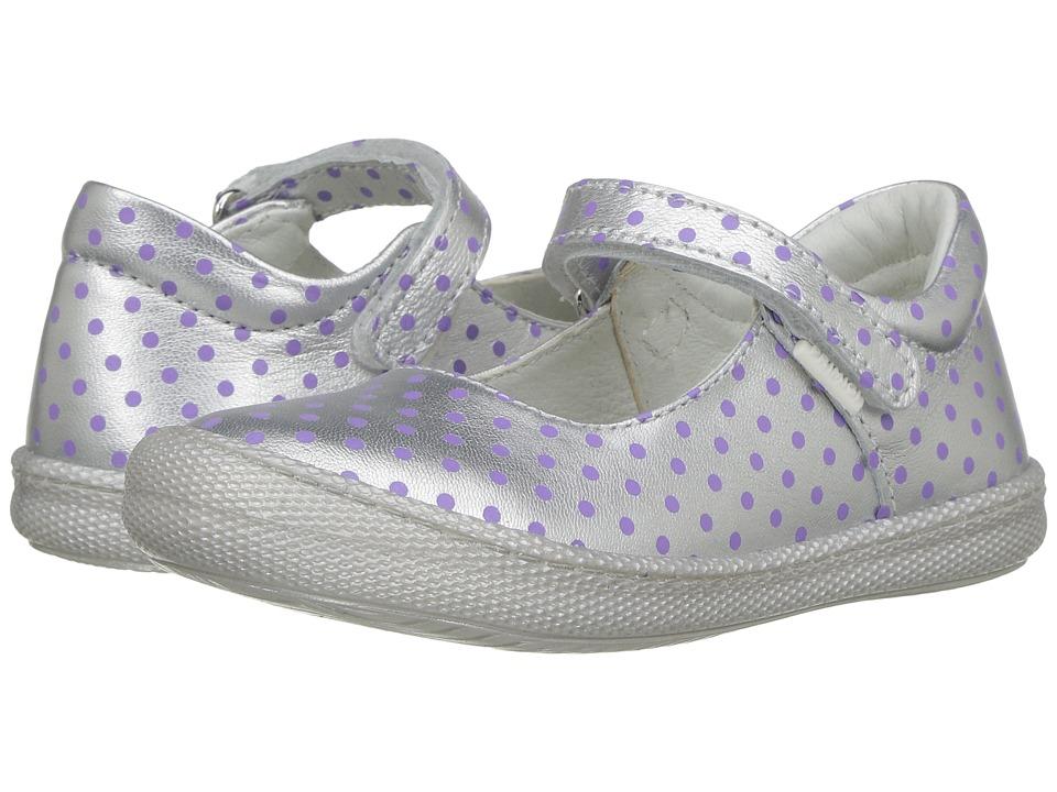 Primigi Kids - PTF 7187 (Toddler/Little Kid) (Silver/Purple) Girl's Shoes