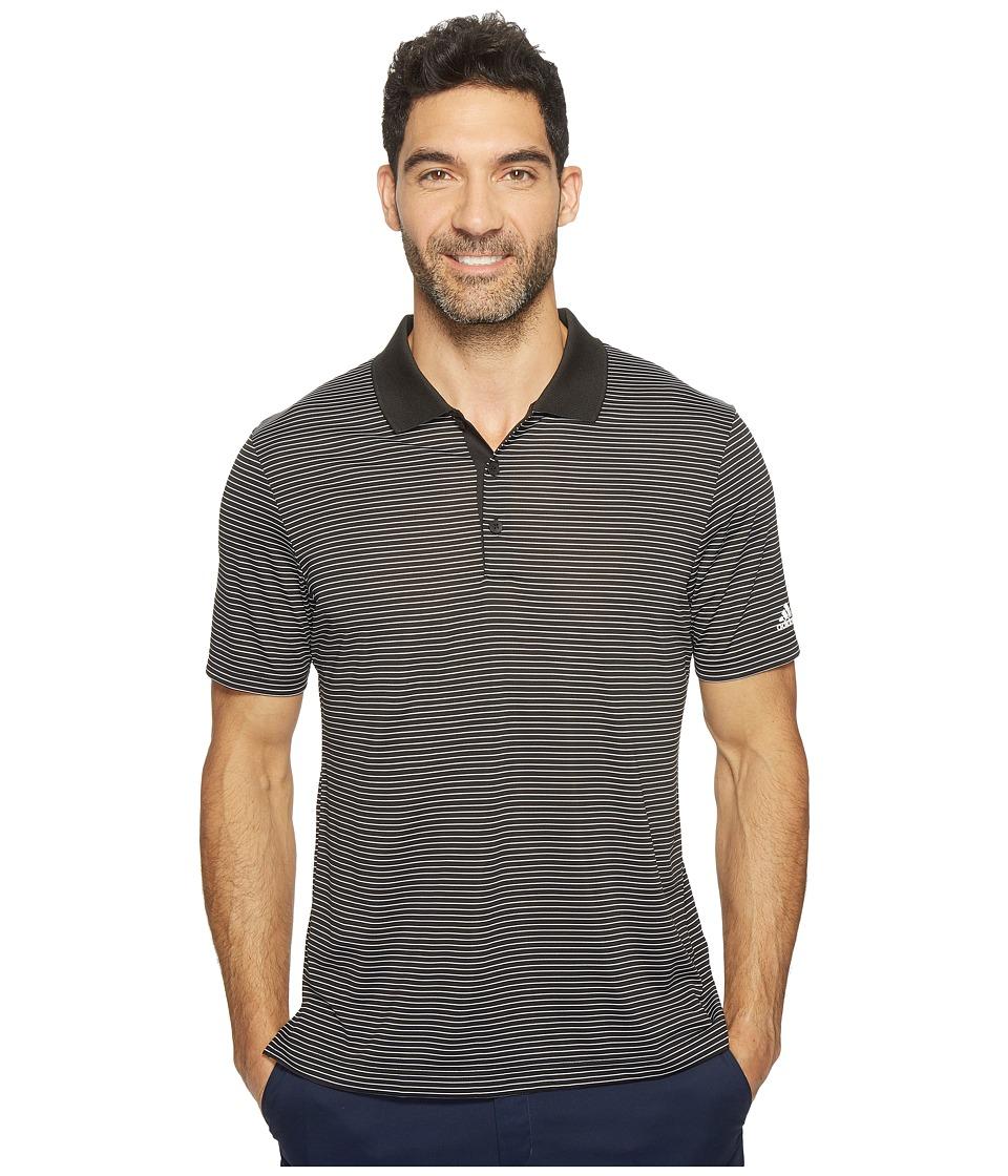 adidas Golf - 2-Color Merch Stripe Polo (Black/White) Men's Short Sleeve Pullover