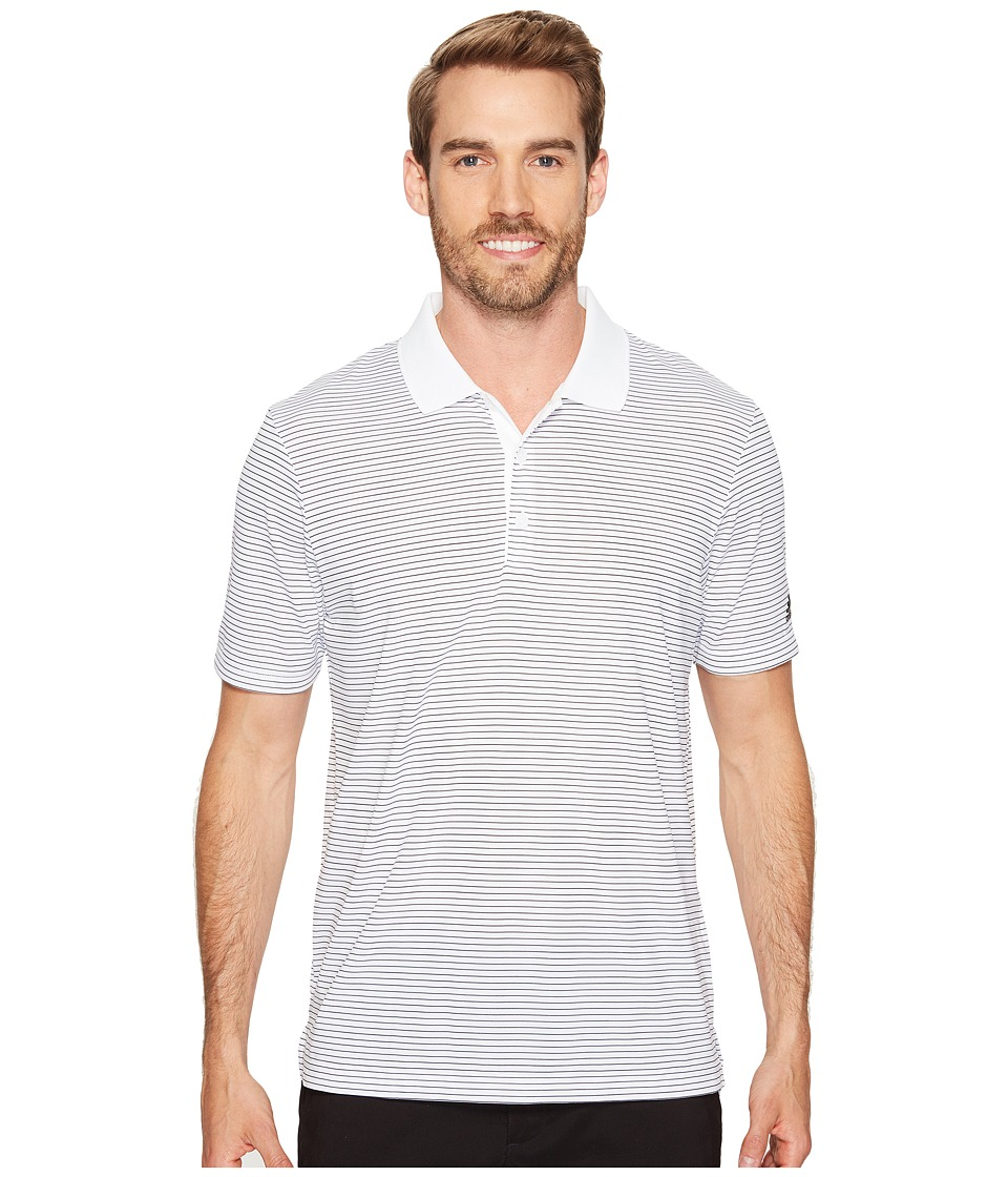 adidas Golf - 2-Color Merch Stripe Polo (White/Black) Men's Short Sleeve Pullover
