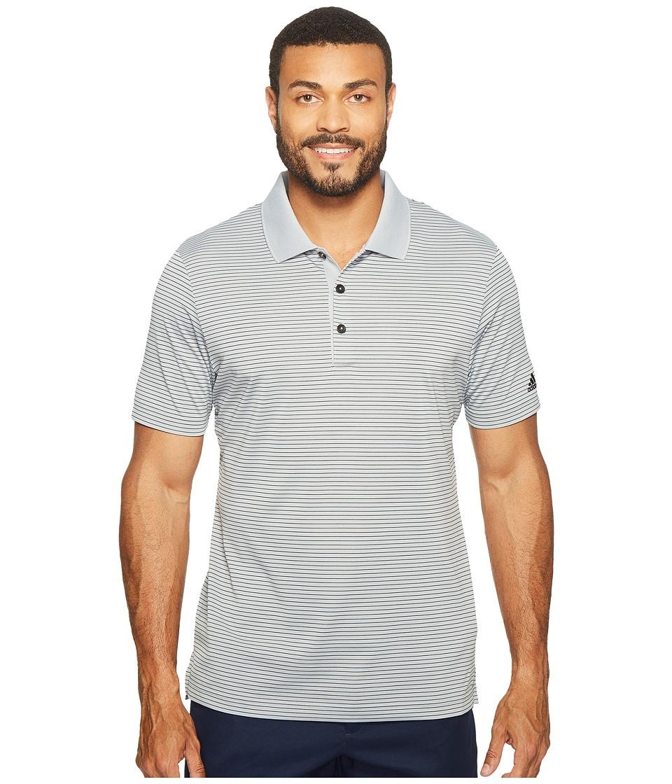 adidas Golf - 2-Color Merch Stripe Polo (Mid Grey/Black) Men's Short Sleeve Pullover