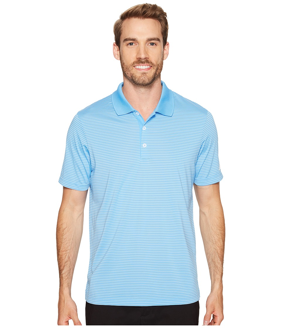 adidas Golf - 2-Color Merch Stripe Polo (Joy Blue/White) Men's Short Sleeve Pullover