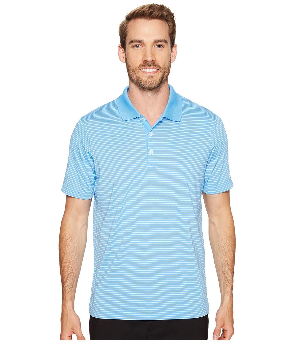 adidas Golf - 2-Color Merch Stripe Polo (Joy Blue/White) Men's Short Sleeve Pullover