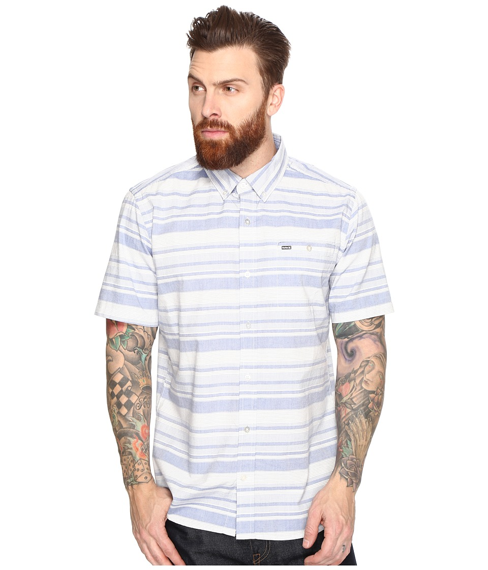 Hurley - Froth Short Sleeve Woven (Game Royal) Men's Clothing