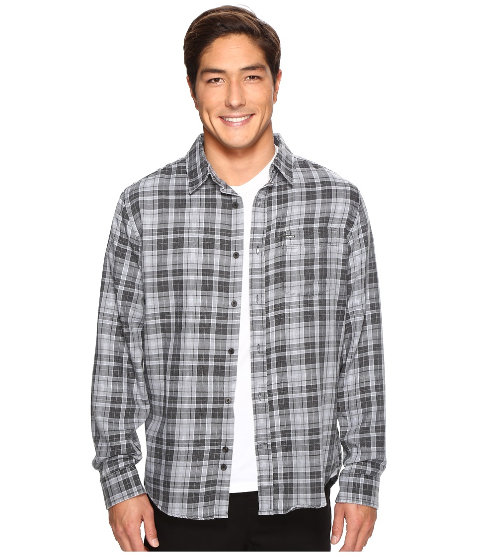 Hurley - Porter Long Sleeve Flannel (Black) Men's Clothing