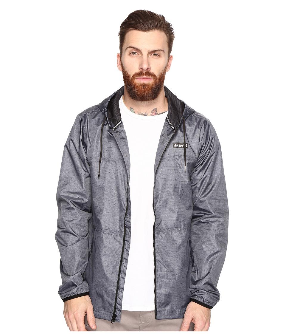 Hurley - Blocked Runner 3.0 Jacket (Dark Grey) Men's Coat