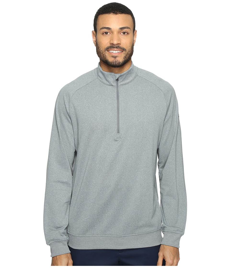 adidas Golf - Club 1/2 Zip (Vista Grey Heather) Men's Long Sleeve Pullover
