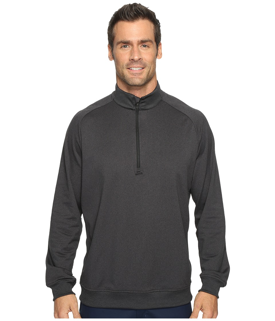 adidas Golf - Club 1/2 Zip (Black Heather) Men's Long Sleeve Pullover