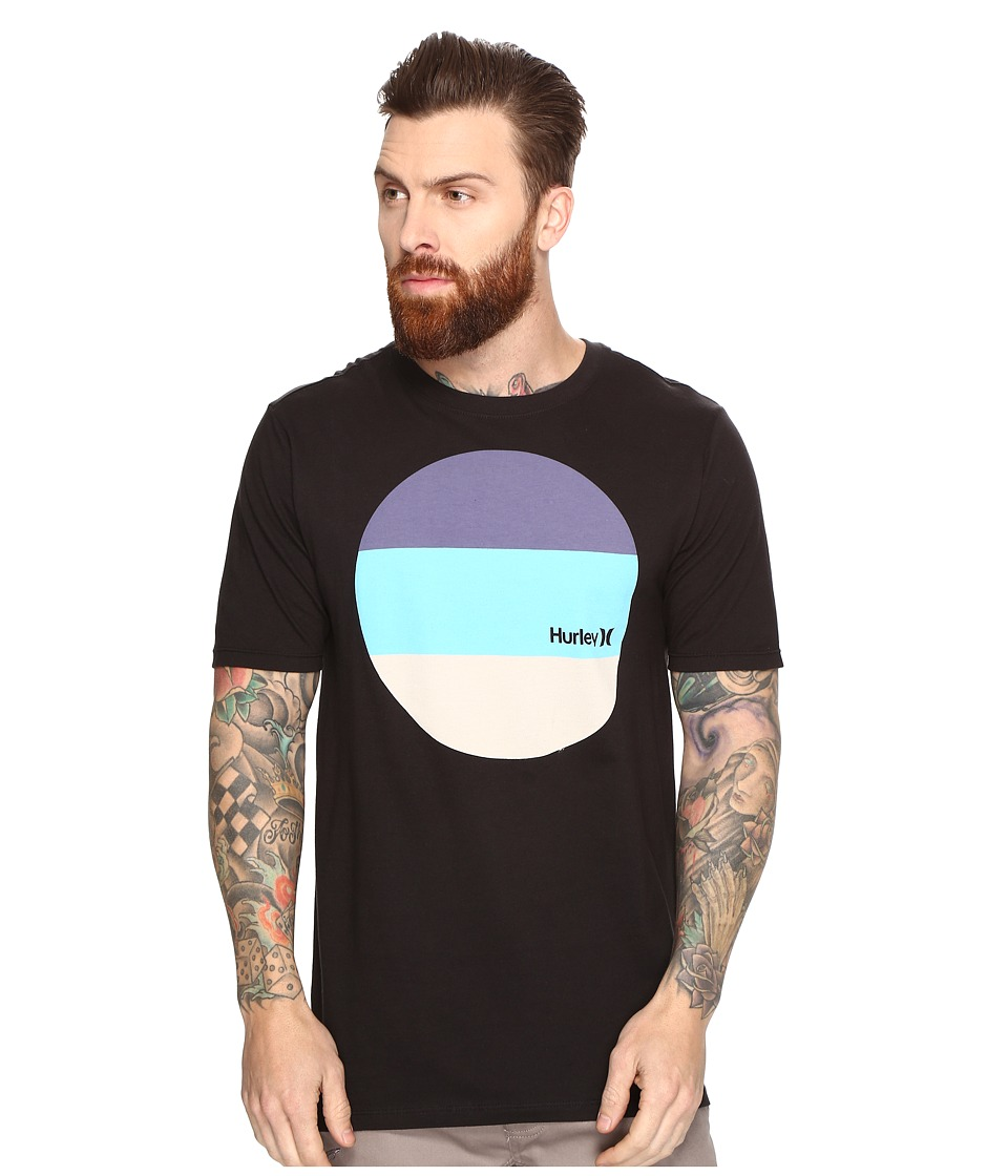 Hurley - Circular Block T-Shirt (Black) Men's T Shirt