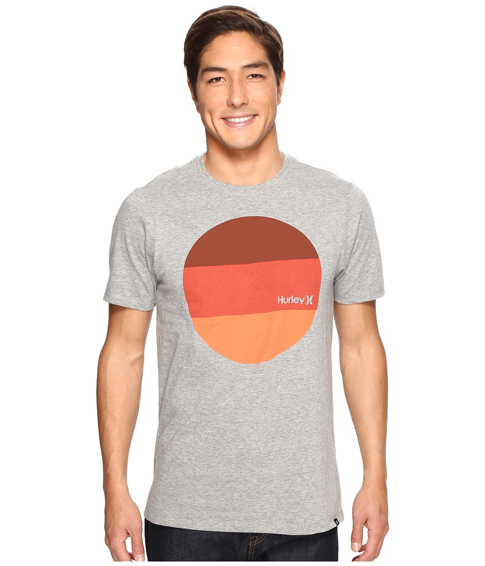 Hurley - Circular Block T-Shirt (Dark Grey Heather) Men's T Shirt
