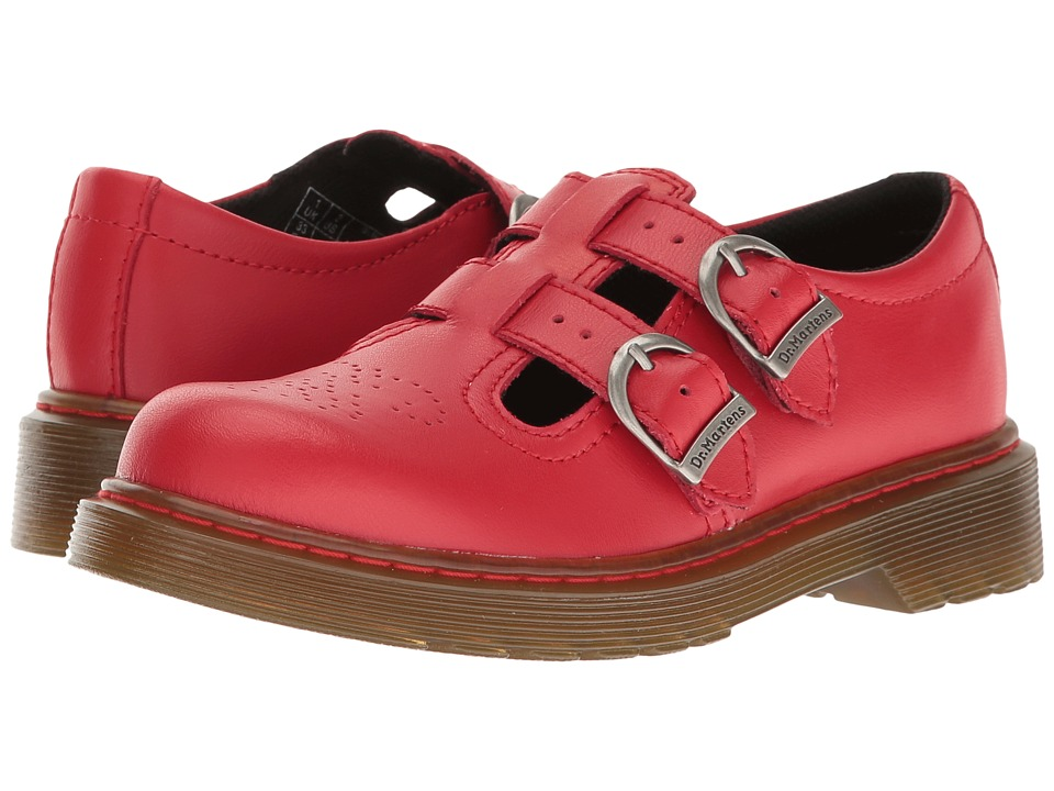 Dr. Martens Kid's Collection - 8065 Mary Jane (Little Kid/Big Kid) (Red T Lamper) Girls Shoes