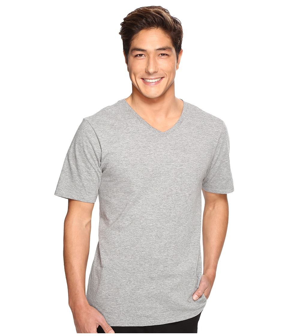 Hurley - Staple V-Neck Tee (Dark Grey Heather) Men's Short Sleeve Pullover