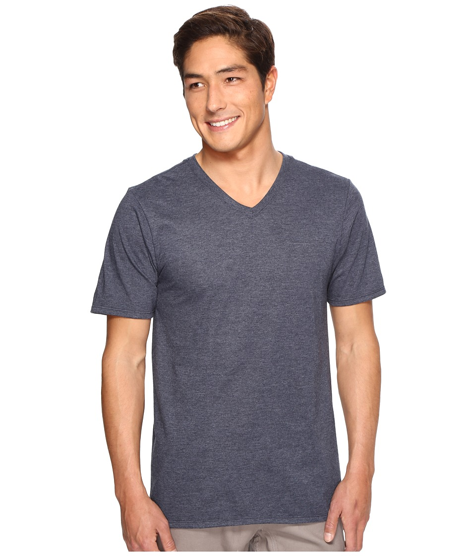 Hurley - Staple V-Neck Tee (Obsidian Heather) Men's Short Sleeve Pullover
