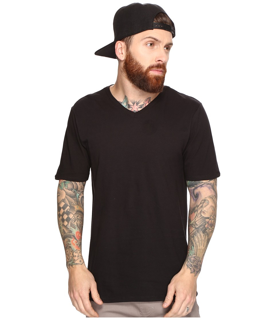 Hurley - Staple V-Neck Tee (Black 1) Men's Short Sleeve Pullover