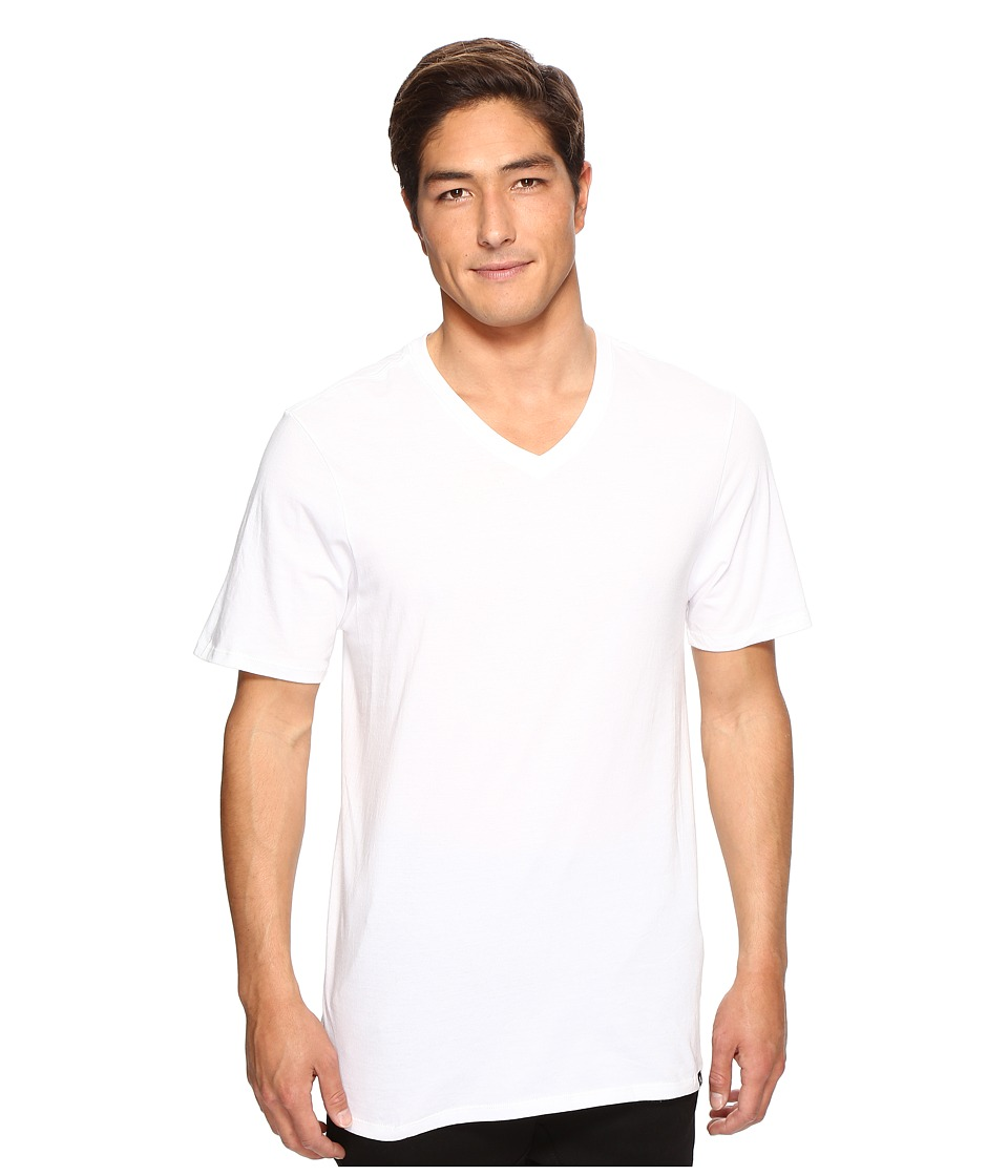 Hurley - Staple V-Neck Tee (White 1) Men's Short Sleeve Pullover