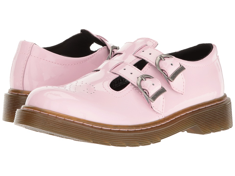 Dr. Martens Kid's Collection - 8065 Mary Jane (Big Kid) (Baby Pink Patent Lamper) Girls Shoes