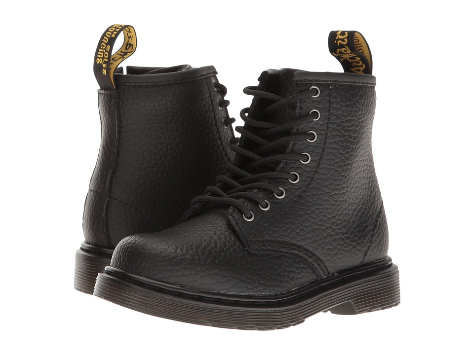 Dr. Martens Kid's Collection - Brooklee PBL Lace Boot (Toddler) (Black Pebble Lamper) Kids Shoes