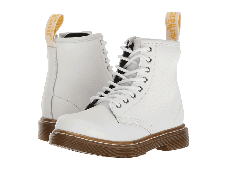 Dr. Martens Kid's Collection - Brooklee PBL Lace Boot (Toddler) (White Pebble Lamper) Kids Shoes
